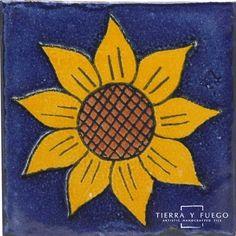 Sunflower 1 Talavera Mexican Tile