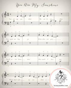 Lullaby Sheet Music Nursery Prints Twinkle Twinkle by honeyandfitz Music Nursery, Girl Nursery, Nursery Rhymes, Sunshine Baby Showers, Nursery Inspiration, Nursery Ideas, Nursery Decor, Ideas Geniales, You Are My Sunshine