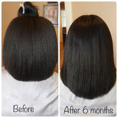 MsKibibi's 6 months hair journey length check. Learn how she used a sew-in weave to retain length. For regimen visit www.youtube.com/kibibihair