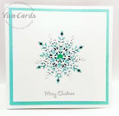 274 - Handmade Card - Snowflake 3  #Silver, #Diamantes, #Snowflakes, #SimonSaysStamp, #Elise