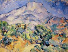 Paul CEZANNE «La Montagne Sainte-Victoire» @ http://www.impressionism-art.org/img499.htm