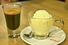 affagato coffee with ice cream by Cafe Barbera @ Bangsar Coffee Places, Food Reviews, Ice Cream, Pudding, Drink, Desserts, No Churn Ice Cream, Tailgate Desserts, Gelato