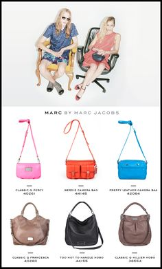 New Marc Jacobs bags are so perfect for this Spring/Summer! Add them to your work look to add some pazazz!