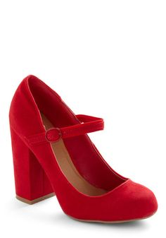 In Haute Pursuit of Style Heel in Red, #ModCloth