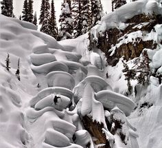 Did you know that you can ski something called a pillow line?   If you happen to follow Tanner Hall on Instagram, you know that T-Hall has a healthy love for dropping insane pillow lines, usually somewhere in interior British Columbia. The above photo showcases Tanner slaying a beautiful stack of snowy mushrooms up near Revelstoke in 2012