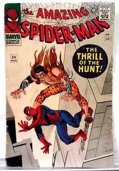 """The Amazing Spider-Man #34 Mar 1966; """"The Thrill of the Hunt"""" 4th KRAVEN"""