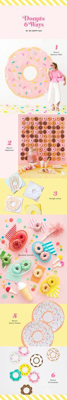 Donuts 6 Ways....donut bingo donut checkers