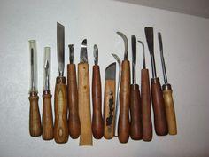 Wood Carving Knife Tools Gouges Chisels Vintage 14 Piece Set | eBay