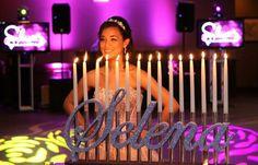 Quince años, Bat Mitzvá y Sweet 16 candelabros personalizados