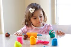 Playdough for Literacy Fun. Play more and learn more with this great idea for your young child!