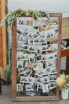 wedding photo display idea / http://www.deerpearlflowers.com/creative-polaroid-wedding-ideas/2/