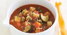 A little bacon goes a long way to adding richness and depth to the flavours in this Bacon and vegetable soup.