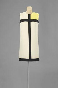 Mondrian dress, Yves Saint Laurent, 1965 Collection Rijksmuseum