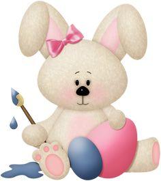 Conejos Pascua ilustraciones Tarjetas Decoupage | para realizar tarjetas y manualidades | tamaño grande descargar