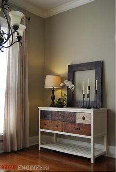 Learn how to build a rustic console from reclaimed wood! FREE plans and tutorial at Ana-White.com
