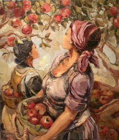 Beloftes: My hartsvriendin Aviva Maree se werk. Contemporary Artists, Modern Art, South African Artists, Painting People, Woman Drawing, Paintings I Love, Flower Market, People Art, Figurative Art