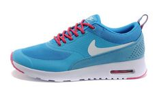 UK Market - Nike Air Max Thea Womens Sky Blue White Pink Trainers
