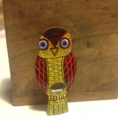 Vintage Owl Tin Lithograph Owl Whistle Owl by VintageReinvented