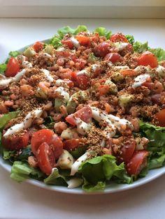 Salad with shrimp and sesame seeds - original recipe for dinner