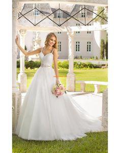 Délka dvorní Jaro 2014 Přírodní Designer Svatební šaty
