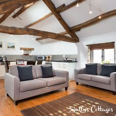 Whitewashed walls, chunky ceiling beams and luxury interiors await at our contemporary barn conversion for 2 guests. This calm and peaceful oasis is set in a tranquil Eden Valley village.