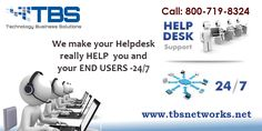 Hire an expert Help Desk Support For Your IT Needs  TBSNetworks provides fast IT helpdesk support which is available 24/7 with a response time of 30 minutes or less. Visit: http://www.tbsnetworks.net/helpdesk/