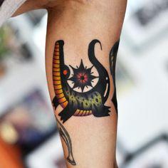 nice Body - Tattoo's - Alligator from my flashbook Body Art Tattoos, Tattoo Drawings, New Tattoos, Alligator Tattoo, Crocodile Tattoo, Florida Tattoos, Traditional Tattoo Art, Tatuagem Old School, Pretty Tattoos