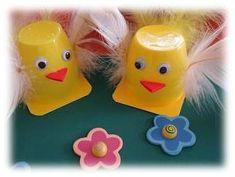 Fun Saturday: Easter Craft with yogurt cups