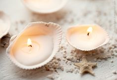 DIY sea shell candles - bring a little bit of your trip home!