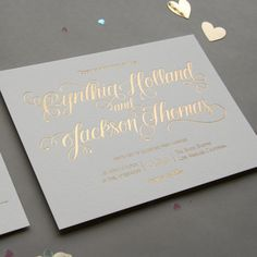 Letterpress Wedding Invitation Set Custom by SteelPetalPress