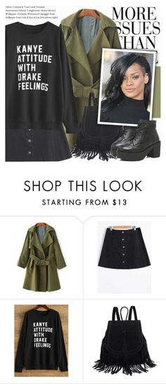 """""""Kanye or Drake?"""" by novalikarida ❤ liked on Polyvore featuring Wassup and gearbest"""