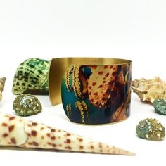 50% OFF JEWELRY - Bracelets for Women - Octopus Jewelry - Nautical Bracelet - Metal Bracelet - Photo Cuff - Marine Jewellery - Sku R6-003