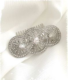 "1920s Art Deco Great Gatsby Inspired Crystal Comb Wedding Hair Accessory-Vintage wedding Headpiece-Art Deco Bridal Crystal Comb-""KRISTINA"""