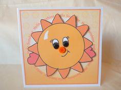 Items similar to Sunshine Hello Sunshine Card Send A Hug UK Seller on Etsy Feeling Under The Weather, Sending Hugs, Hello Sunshine, Sun Rays, Say Hi, Friend Birthday, Sunflowers, Handmade Gifts, Cards