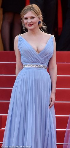 Blonde beauties:Kirsten Dunst and Elle Fanning looked as if they'd compared notes on what to wear to the film's premiere at the 70th annual Cannes Film Festival on Wednesday evening