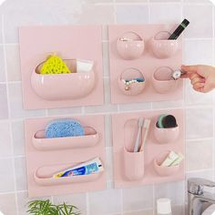 $13.27 - Awesome 4 Styles Wall Suction Cup Kitchen Bathroom Storage Rack Can Use Repeatedly Bathroom Organizer Storage Shelf - Buy it Now!