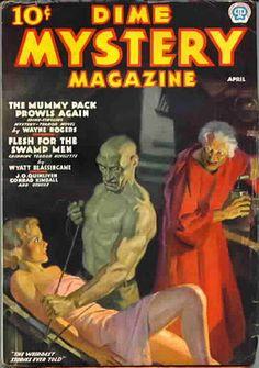 Dime Mystery Magazine (April) Vintage Pulp