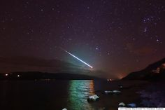 Amateur Photographer John Alasdair Macdonald captures Breathtaking Image Of Meteor Streaking Over Loch Ness
