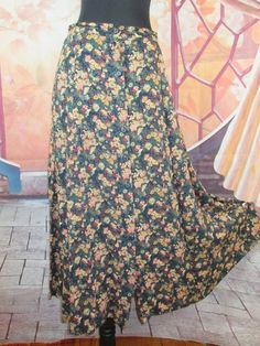 Clothing, Shoes & Accessories Women's Clothing Careful Sag Harbor Brown/pink Floral Skirt Size Large Cute!