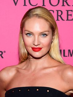 Candice Swanepoel Long Straight Cut - Candice Swanepoel opted for a fuss-free straight 'do when she attended the Victoria's Secret fashion show after-party.