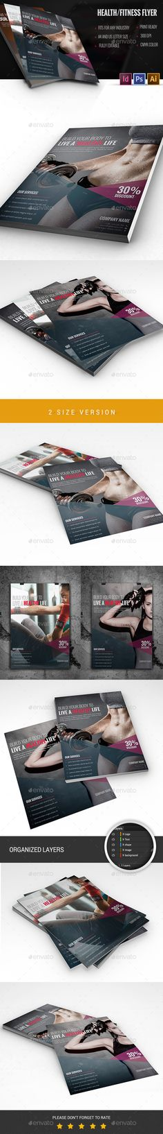 Fitness Flyer Template Flyer template, Template and Fonts - fitness flyer