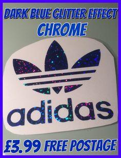 Adidas self adhesive glitter effect chrome decal 93b894b74