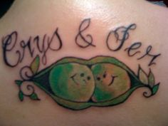 Peas Tattos | Two peas in a pod by ~crystalblis on deviantART