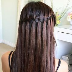 How STUNNING is this waterfall braid?