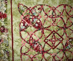 "Joan Sayre's Celtic quilt, from Michiko Shima's book ""Quick Bias Quilt"" - http://scarlettrose.com/quick_bias_quilt.html"