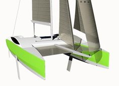 www.ngyachtdesign.com multicoques_voile.php?id=10 Yacht Design, Boat Plans, Boat Building, Outdoor Furniture, Outdoor Decor, Plywood, Sun Lounger, How To Plan, Sailing