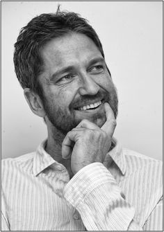 gerard butler, such a wonderful smile! Immediately lights you up inside :)