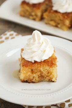 This made from scratch Pineapple Poke Cake is as easy as using a mix and it turns out spongey, moist and delicious every time! It's all the flavors of pineapple upside down cake, made simple and it's sure to be a crowd pleaser! Pineapple Poke Cake, Pineapple Desserts, Pineapple Upside Down Cake, Lemon Desserts, Easy Desserts, Delicious Desserts, Pineapple Sauce, Crushed Pineapple, Poke Cake Recipes