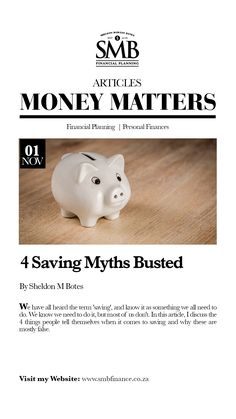 We have all heard the term 'saving', and know it as something we all need to do. In this article, I discuss the 4 things people tell themselves when it comes to saving and why these are mostly false.