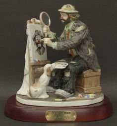 Fine Porcelain China Diane Japan Value Refferal: 6927941116 Porcelain Jewelry, China Porcelain, Porcelain Tiles, Painted Porcelain, Emmett Kelly Clown, Doll Tattoo, Send In The Clowns, Clowning Around, Artist At Work